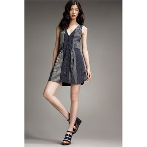 Marc by Marc Jacobs Anderson Stripe Dress Blue